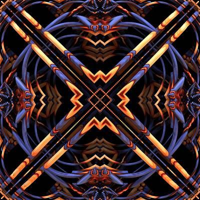 Mandelbulb Digital Art - Criss Cross by Lyle Hatch