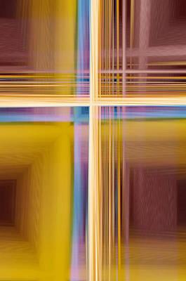 Abstract Digital Art Mixed Media - Crisscross 3 by Tom Druin