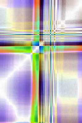 Mixed Media - Crisscross by Tom Druin