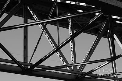 Photograph - Crisscrossing Steel Girders by John  Mitchell