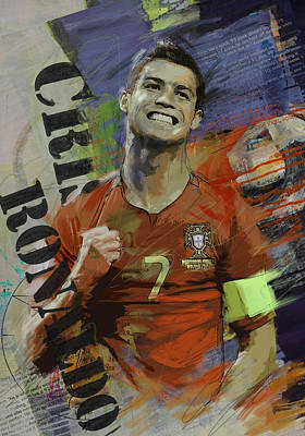 Fifa Painting - Cristiano Ronaldo - B by Corporate Art Task Force