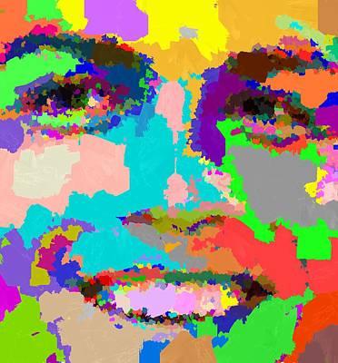 Painting - Cristiano Ronaldo - Abstarct 01 by Samuel Majcen