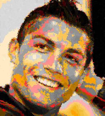 Cristiano Ronaldo Painting - Cristiano Ronaldo - Abstarct 1 by Samuel Majcen