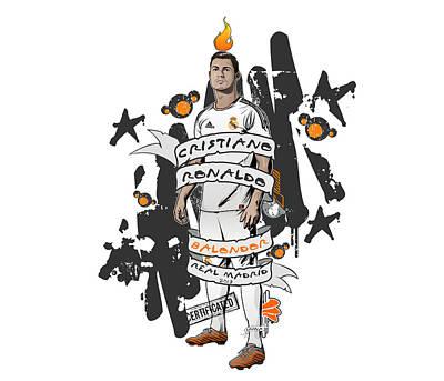 Soccer Digital Art - Cristiano Ronaldo  by Akyanyme