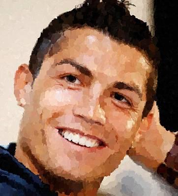 Cristiano Ronaldo Painting - Cristiano Ronaldo Portrait by Samuel Majcen