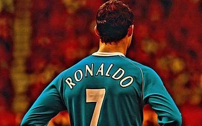 Cristiano Ronaldo Painting - Cristiano Ronaldo Poster Art by Florian Rodarte