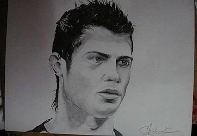 Cristiano Ronaldo Drawing - Cristiano Ronaldo by Sarthak Palwankar