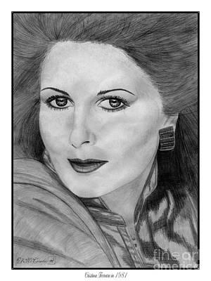 Cristina Ferrare In 1981 Art Print by J McCombie