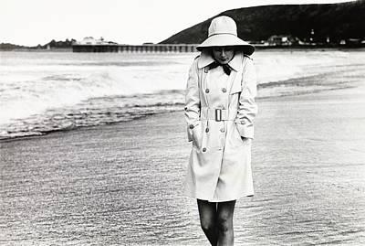 Raincoat Photograph - Cristina Ferrare Wearing A Misty Harbor Raincoat by Henry Clarke
