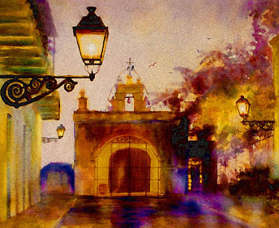 Old San Juan Painting - Cristo Chapel San Juan by Estela Robles