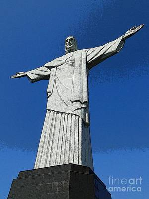 Photograph - Cristo Redentor  by Barbie Corbett-Newmin