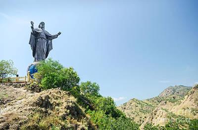 Keith Richards - Cristo Rei Statue Near Dili East Timor Timor Leste by JM Travel Photography