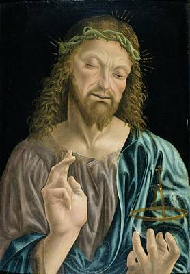 Orbs Painting - Cristo Salvator Mundi, C.1490-94 by Master of the Pala Sforzesca