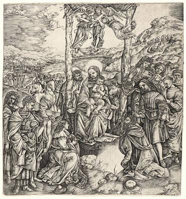 Cristofano Robetta Italian, 1462 - Ca. 1535. The Adoration Art Print by Litz Collection