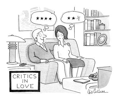 1990-s Drawing - Critics In Love by Leo Cullum