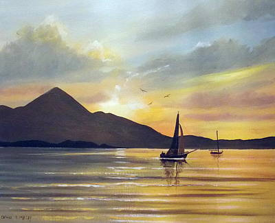 Croagh Patrick Sunset Original by Cathal O malley