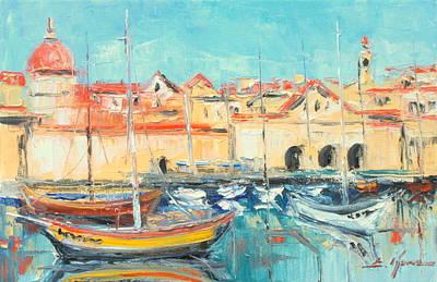 Croatia - Dubrovnik Harbour Art Print
