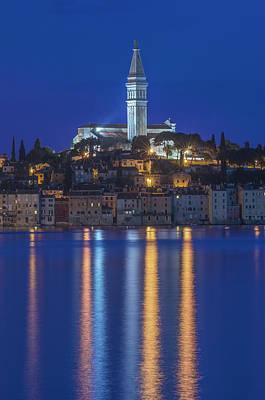 Croatia, Istria, Twilight Rovinj (large Art Print
