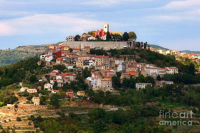 Photograph - Croatian City Motovun  by Nick  Biemans