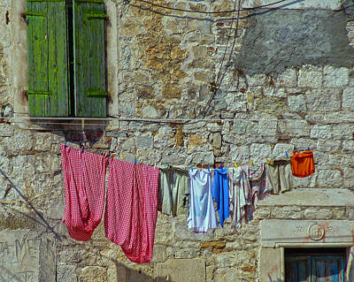 Photograph - Croatian Clothes Line by Don Wolf