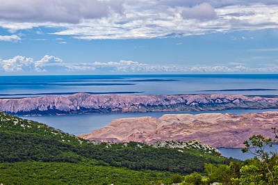 Photograph - Croatian Islands Aerial View From Velebit by Brch Photography