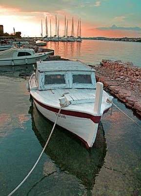 Croatian Marina Art Print by Dennis Cox WorldViews