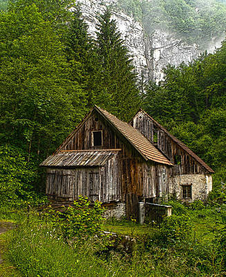 Photograph - Croatian Mountain Cabin Posterized by Don Wolf