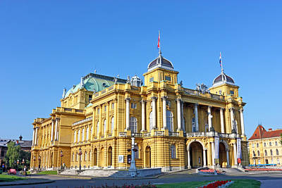 Photograph - Croatian National Theater In Zagreb by Borislav Marinic