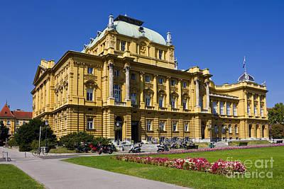 Croatian National Theatre In Zagreb Art Print by Kiril Stanchev
