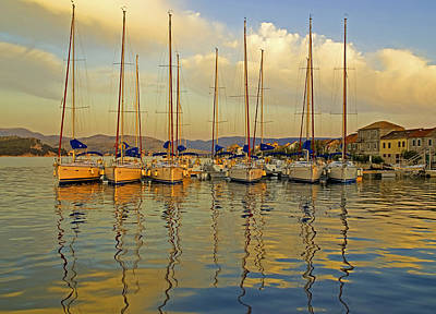 Croatian Sailboats Art Print by Dennis Cox WorldViews