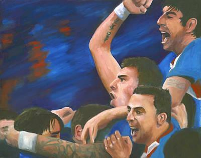 Croatian Soccer Team Celebration Original by Joe Maracic