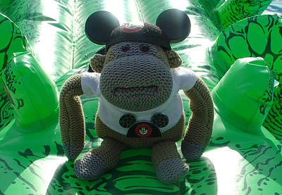 Photograph - Croc Riding Monkey by David Nicholls
