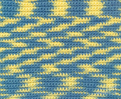 Crochet Made With Variegated Yarn Art Print by Kerstin Ivarsson
