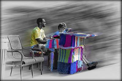 Street Musicians Digital Art - Crochet Piano Man by Bill Cannon