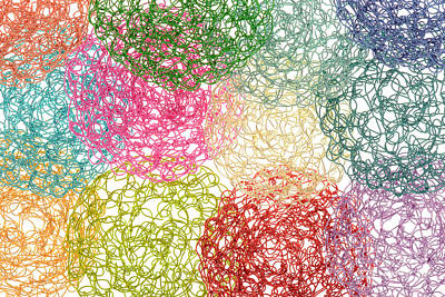 Crochet Wire Abstract Art Print