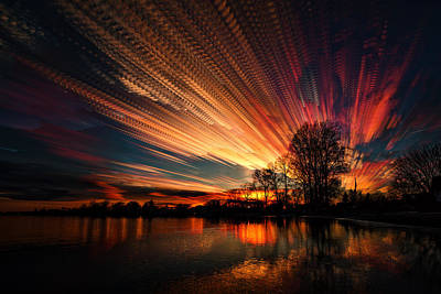 Line Movement Wall Art - Photograph - Crocheting The Clouds by Matt Molloy