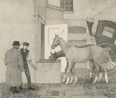 Horse Drawing - Crocks by Robert Polhill Bevan