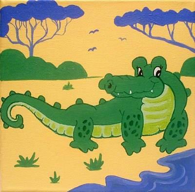 Painting - Crocodile by Anne Gardner