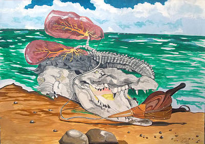 Crocodile Emphysema Original