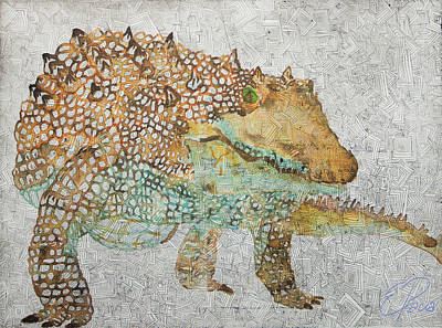 Crocodile Mixed Media - Crocodile  by Ewa Pacia