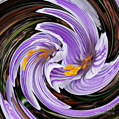 Digital Art - Crocus Swirl 1 by Sarah Loft