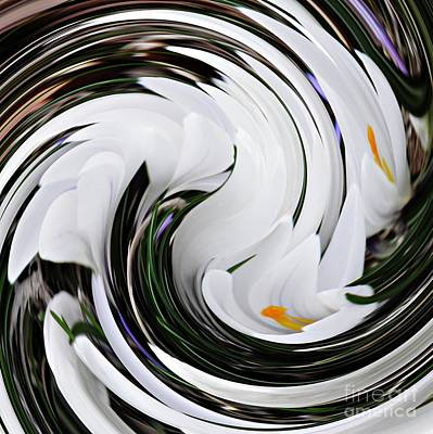 Digital Art - Crocus Swirl 3 by Sarah Loft