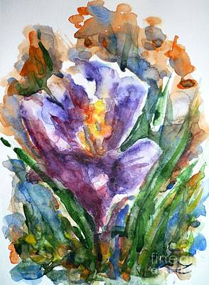 Most Popular Painting - Crocus  by Zaira Dzhaubaeva