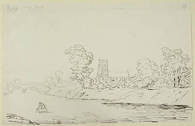 Religious Drawings Photograph - Croft Bridge And Church by British Library