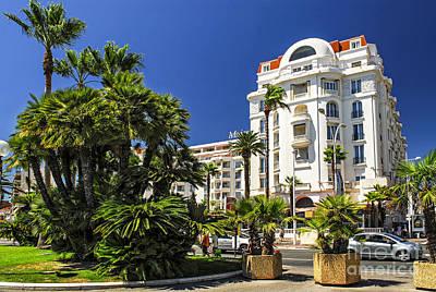 Croisette Promenade In Cannes Print by Elena Elisseeva