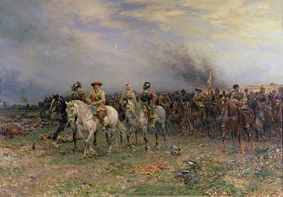 Civil Painting - Cromwell After The Battle Of Marston by Ernest Crofts