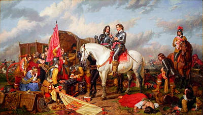 Cromwell In The Battle Of Naseby In 1645 Print by Celestial Images