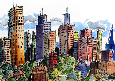 Crooked City Art Print by Terry Banderas