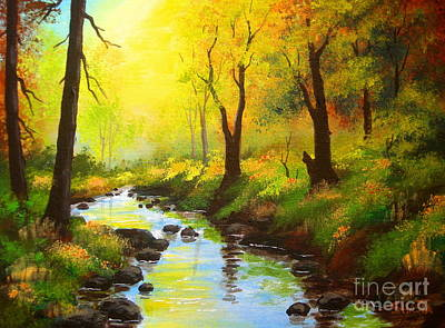 Painting - Crooked  Creek  by Shasta Eone