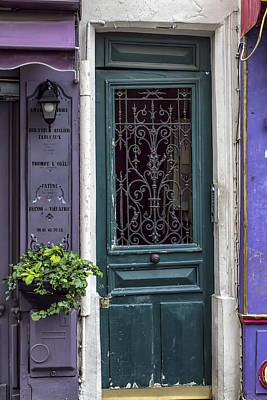 Of Artist Photograph - Crooked Door In Montmartre by Georgia Fowler